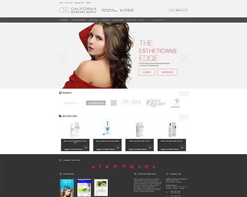California Skincare Supply Responsive Website Design