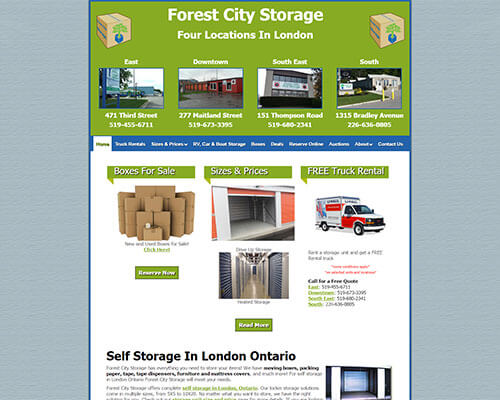 Forest City Storage's Website