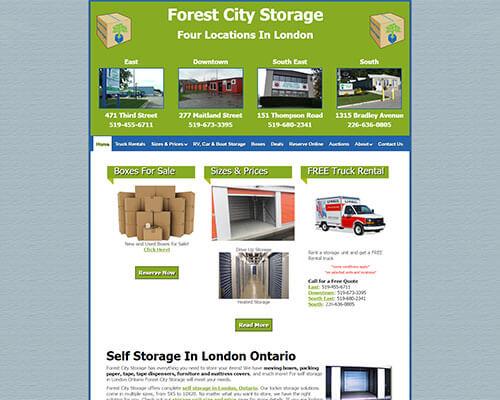 Forest City Storage's Website
