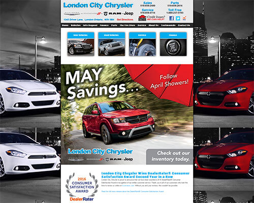 London City Chrysler's Website