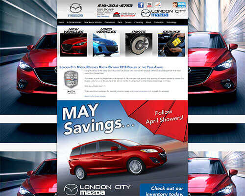 London City Mazda's Website