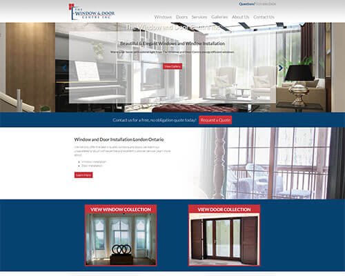 The Window and Door Centre Inc.'s Website