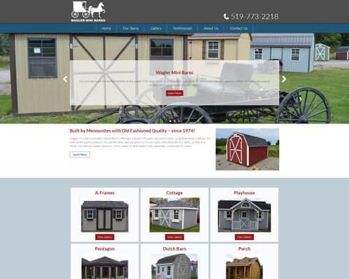 Waglers Mini Barns's Website