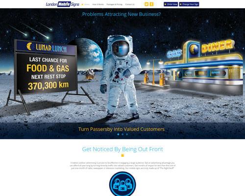 London Mobile Signs Website Design