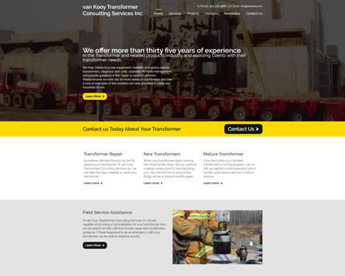van Kooy Transformer Consulting Services Inc.'s Website