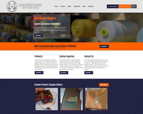 Marsdome Studios's Website