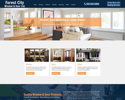 Forest City Windows Mobile Responsive Website Design