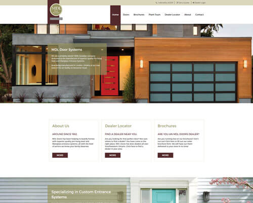 MDL Door Systems's Website