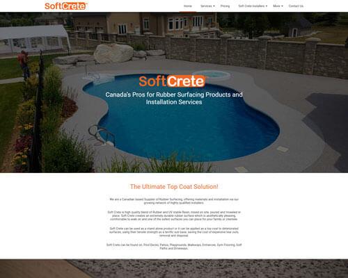 Soft Crete responsive website design