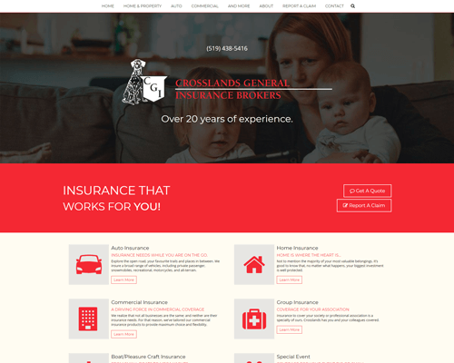 Crosslands Insurance's Website