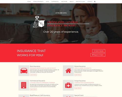 Crosslands Insurance Responsive Design