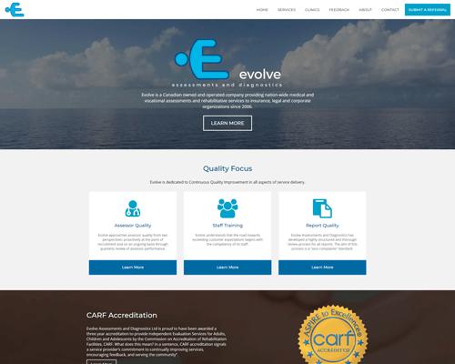 Evolve Assessments and Diagnostics Responsive Website Design