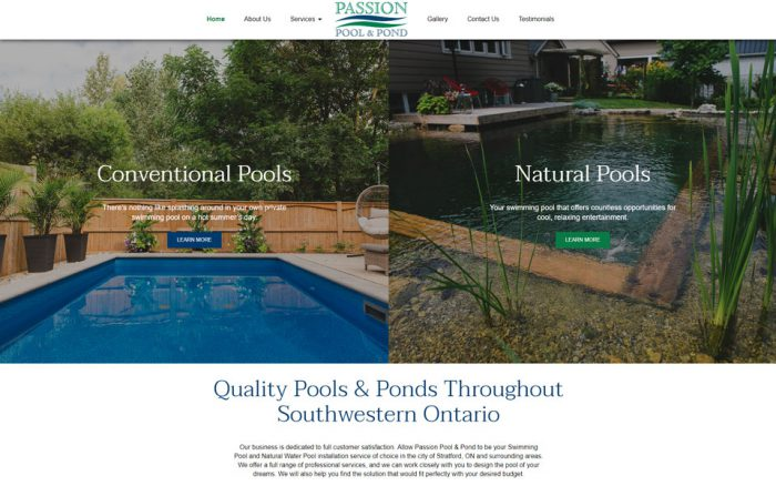 Passion Pool Design and SEO