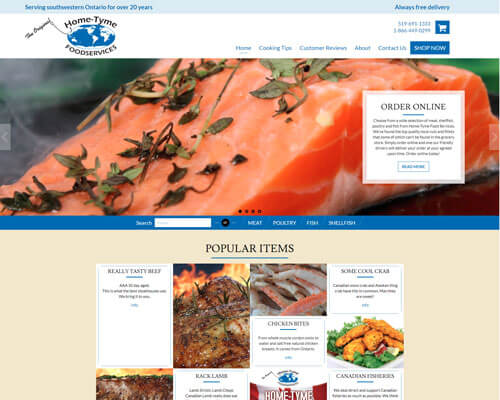 Home Tyme Website Design