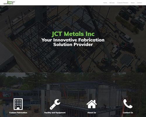 JCT Metals responsive web design