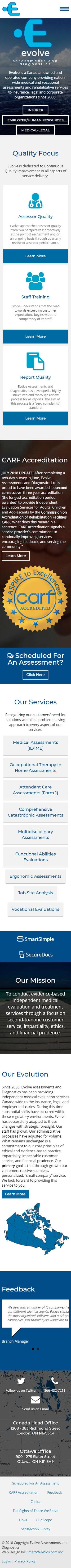 Evolve Assessments and Diagnostics