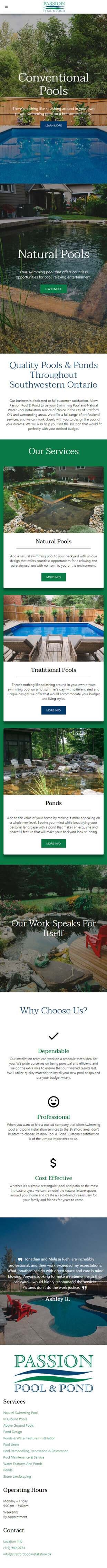 Passion Pool and Pond