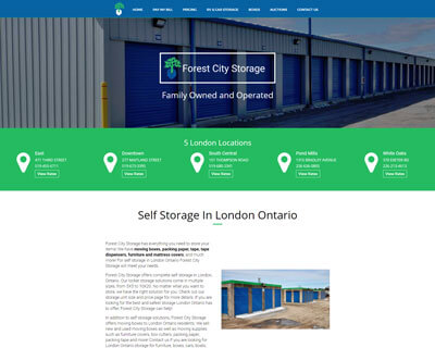 Forest City Storage Responsive Web Design
