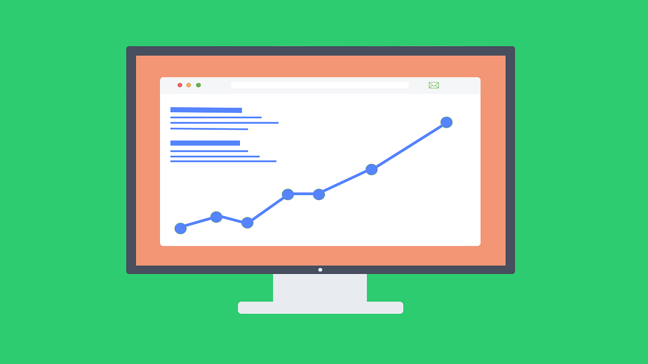 SEO rankings moving upwards on a new site