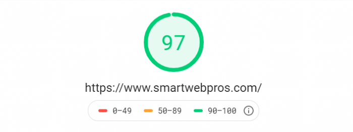 reading your pagespeed rating