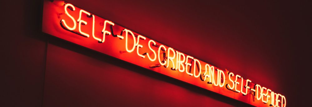 lit sign in red